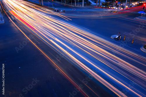 Fototapeta Light rail on the road obraz na płótnie