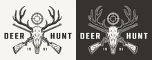 Vintage Monochrome Hunting Badge
