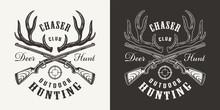 Vintage Monochrome Hunting Print