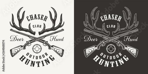Fotografia  Vintage monochrome hunting print