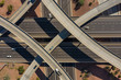 canvas print picture - Aerial drone photo of a highway interchange
