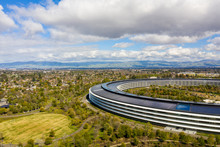 Aerial Drone Photo Apple Park Cupertino CA