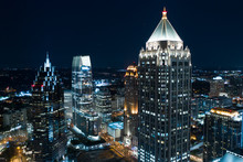Aerial Drone Photo Downtown At...
