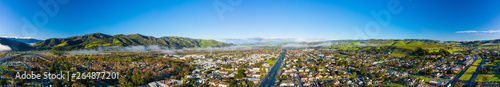 Fényképezés Aerial panorama Buellton California USA image