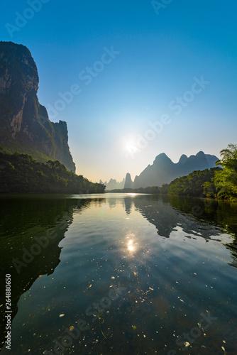 Lijiang river of sunrise Fototapeta