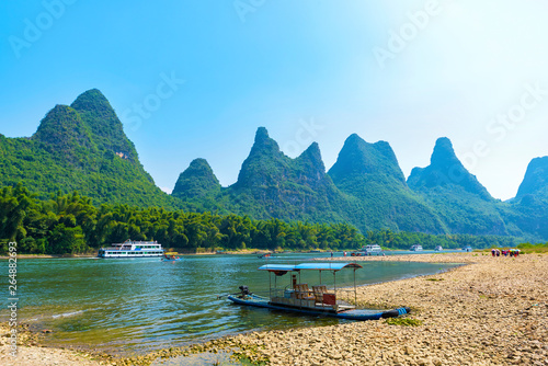 Photo Landscape, the lijiang river, guilin karst mountainous area