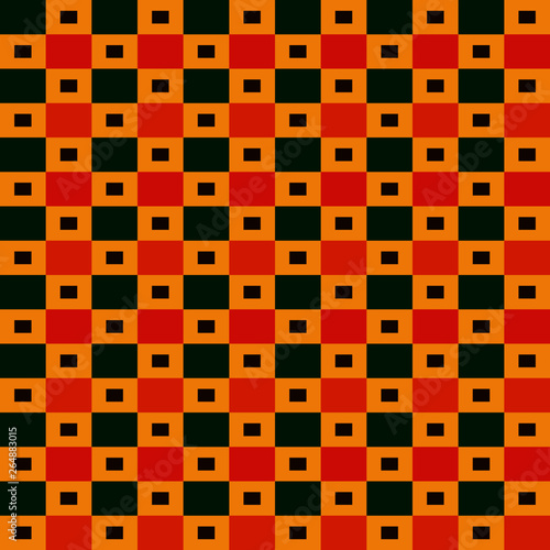 Seamless East African Fabric Pattern, Geometric, Tribal and Abstract vector file Wall mural