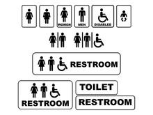 Set Of Restroom Vector Sign