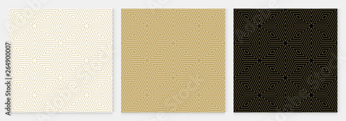 Fotografie, Obraz  Background pattern seamless geometric diamond abstract gold luxury color vector