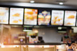 canvas print picture - Blur image of fast food restaurant, use for defocused background.
