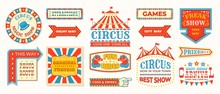 Circus Labels. Carnival Retro ...