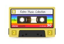 Retro Cassette. Vintage 1980s ...