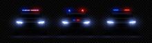 Realistic Police Headlights. C...