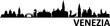 Venedig City Skyline Silhouette