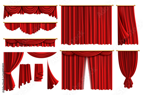 Cuadros en Lienzo  Red curtains
