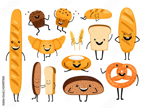 Canvas Print Bread characters