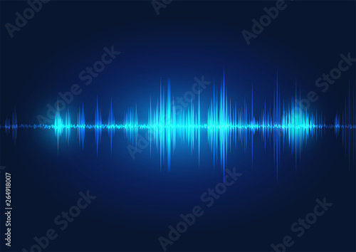 Photo  line soundwave abstract background
