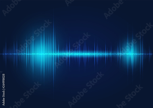 line soundwave abstract background Wallpaper Mural