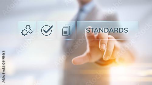 Fotografía Standards quality Assurance control standardisation and certification concept