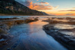 Morning at Coalcliff seaside coastal town