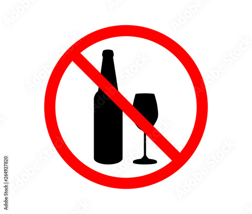 Pinturas sobre lienzo  Prohibiting sign for alcohol