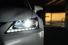 Xenon And LED Headlamp Of A Mo...