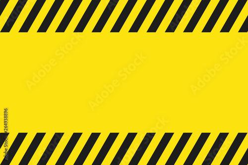 Cartel negro y amarillo de advertencia. Seguridad laboral. Wallpaper Mural