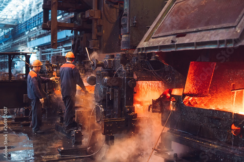Valokuva  Workers in the steel mill.
