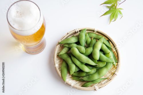 Fotomural  枝豆とビール