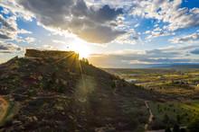 Beautiful Evening Sunset Over Castle Rock Park