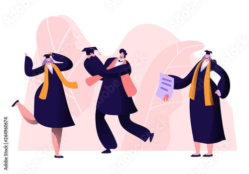 Male and Female Alumnus Graduating University, College or School Wallpaper Mural