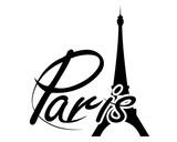 Fototapeta Fototapety z wieżą Eiffla - Parigi logo vettoriale