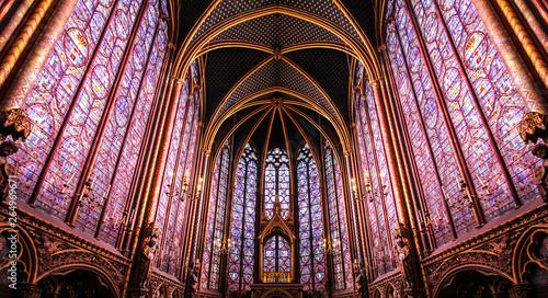 Fotografie, Tablou Paris / Sainte Chapelle - Chapelle haute