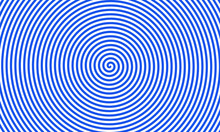 Hypnotic Lines In Circle Blue ...