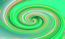 Green Whirl With Brown Color, Elegant Style. Amazing Illustration.