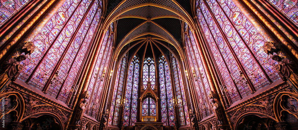 Fototapety, obrazy: Paris / Sainte Chapelle - Chapelle haute