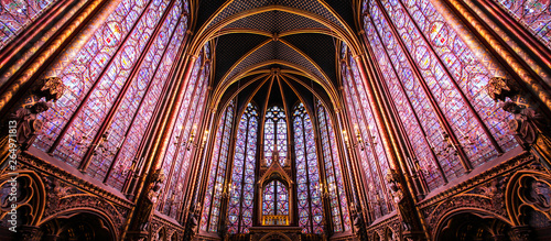 Tablou Canvas Paris / Sainte Chapelle - Chapelle haute