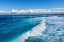 Waves And Azure Water As A Bac...