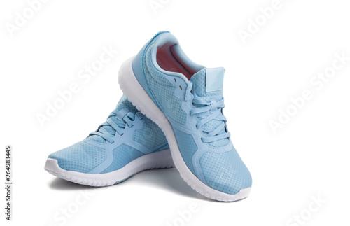 blue sneakers isolated Fototapeta