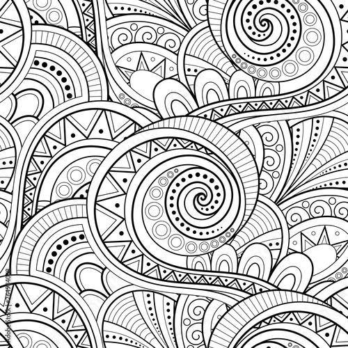 Tapety Art Deco  monochromatyczny-wzor-etniczny