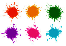 Vector Set Splatter Color Pain...
