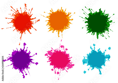 Acrylic Prints Form vector set splatter color paint,splatter paint design background,Vector illustration design background