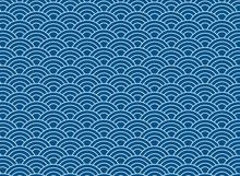 Vector Background Of Blue Japa...