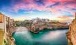 Leinwandbild Motiv Sunset at Cala Paura gulf