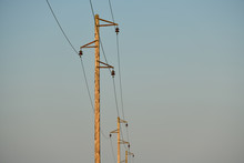 Electric Pole And Wires. An Ol...