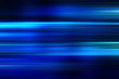 canvas print picture - blue technology abstract motion background of speed light