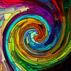Panel Szklany Na szklane drzwi i okna Visualization of Spiral Color