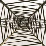 Przekroj slupa energetycznego. Widok od dolu. Struktura.