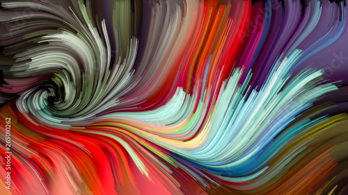 Valokuva  Abstract Color Swirl Wallpaper