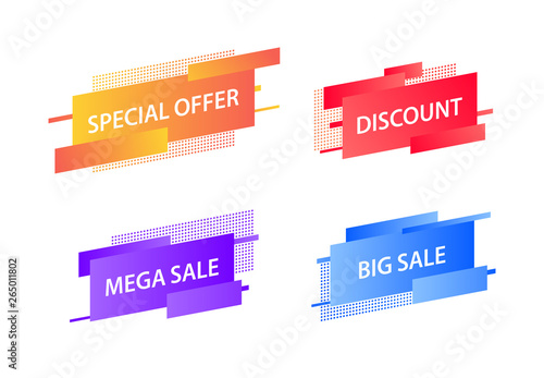 Sale tags collection  Special offer, big sale, discount